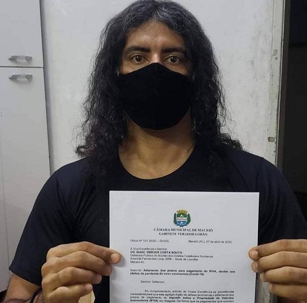 Lobão solicita prorrogação do pagamento do IPVA em Alagoas durante pandemia