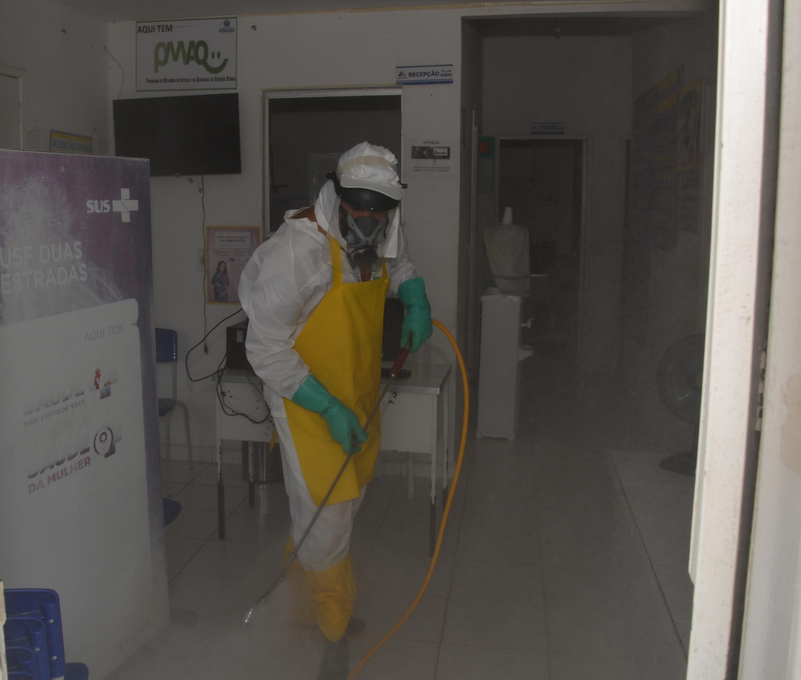Coronavírus: Prefeitura de Anadia realiza desinfecção das Unidades de Saúde