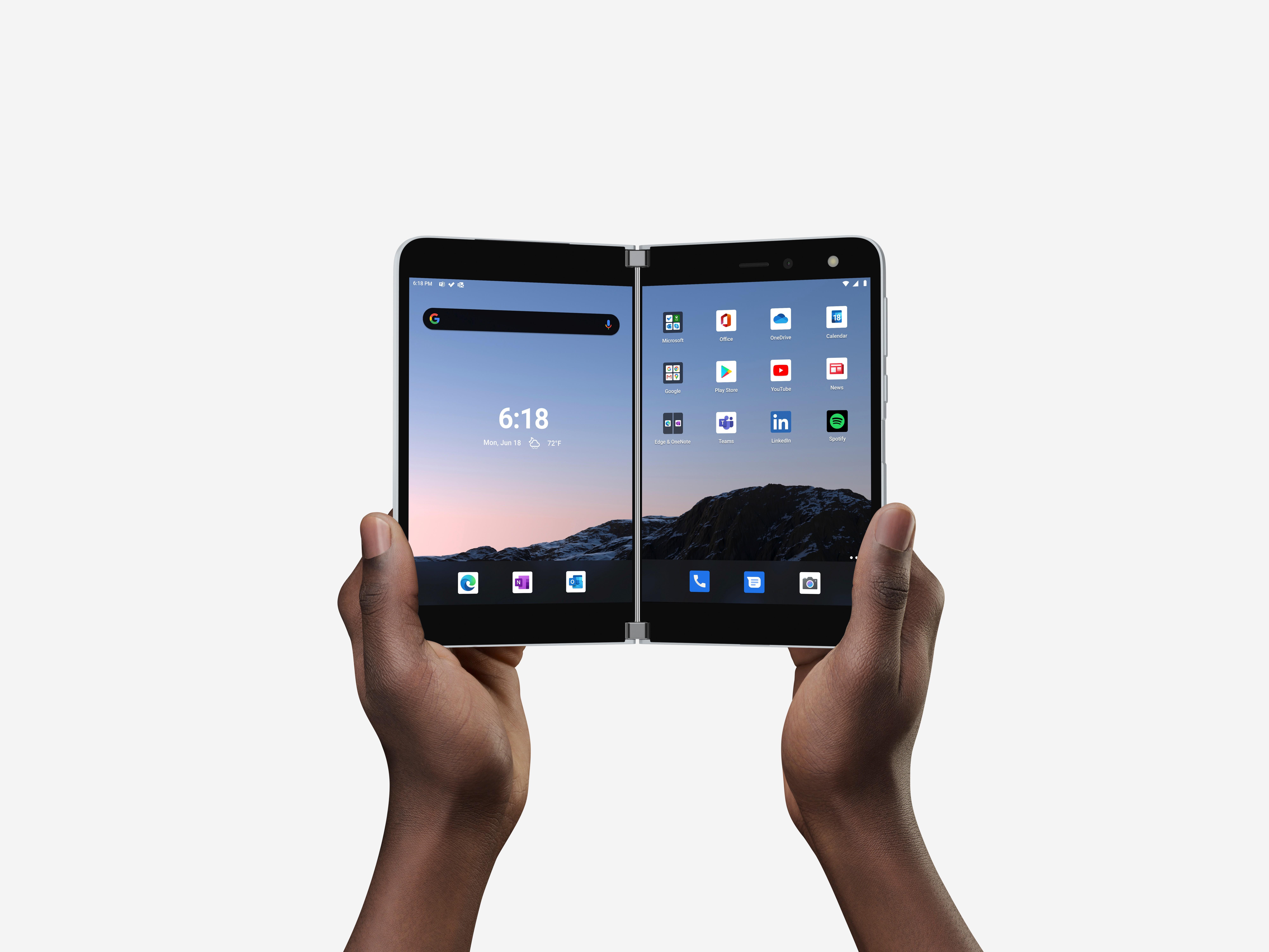 Microsoft lançará smartphone de tela dupla a US$ 1.399